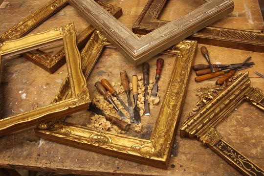 Hand Carved Gold Leaf Frames Casa California Art Services